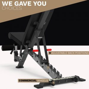 FID Commercial Bench - Archon Fitness - gym in your home