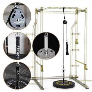 Single Pulley Cable Station – 55 / 70 SET w/ 1″ Plate