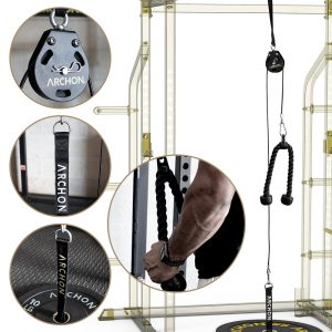 Single Pulley Cable Station – 55 / 70 SET w/ Rope