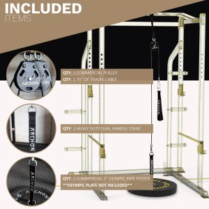 Single Pulley Cable Station - Archon Fitness - exercise equipment store