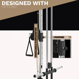 adjustable position pulley - cable machine - archon fitness