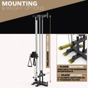 archon fitness - cable machine - wall mount