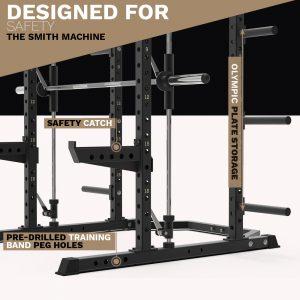 archon fitness - olympic plate storage - smith machine