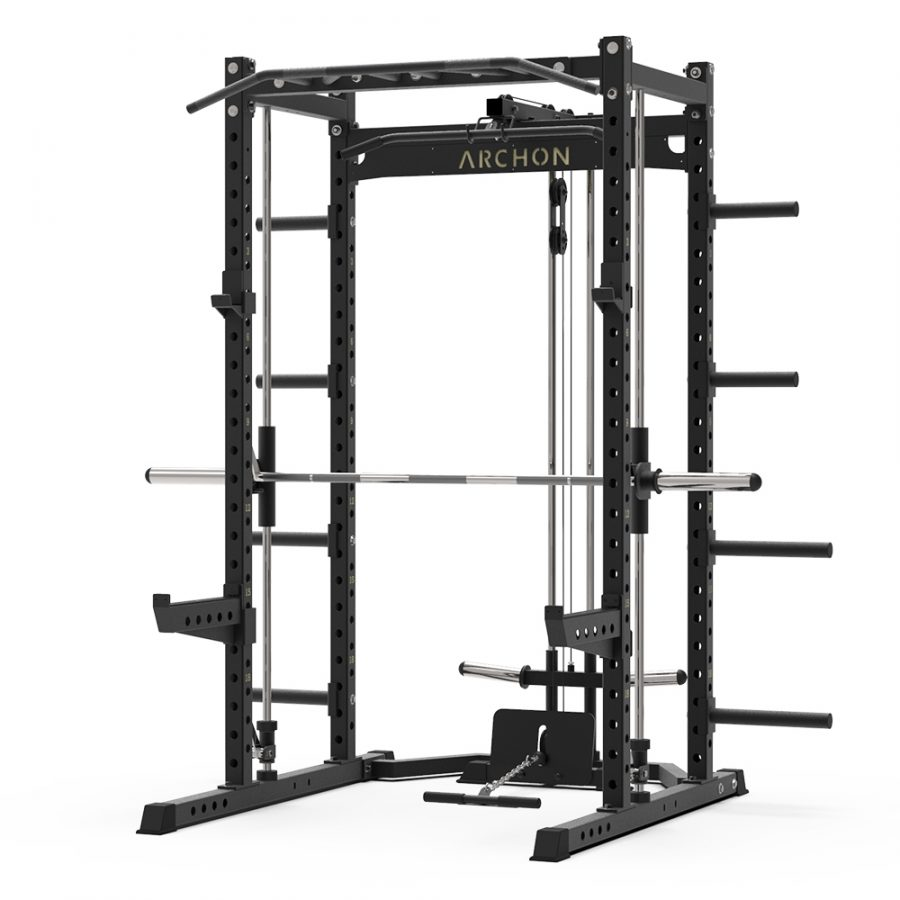 smith machine - low pulley - smith machine attachments - archon fitness