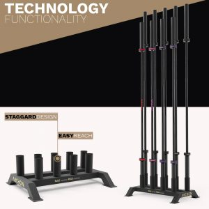 Olympic Bar Storage Rack - Archon Fitness - gym in your home - exercise equipment store
