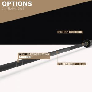BLACK ZINC Olympic Ball Bearing Bar - olympic powerlifting - Archon Fitness