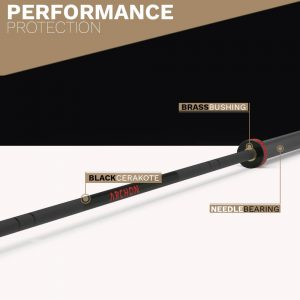 CERAKOTE Needle Bearing Olympic - Archon Fitness - gym in your home - exercise equipment store Bar