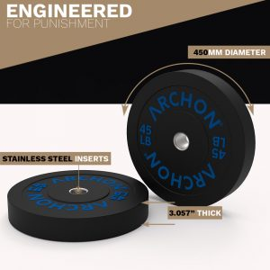45/35/25/15/10 LB RB Bumper Plates - Archon Fitness - exercise equipment store