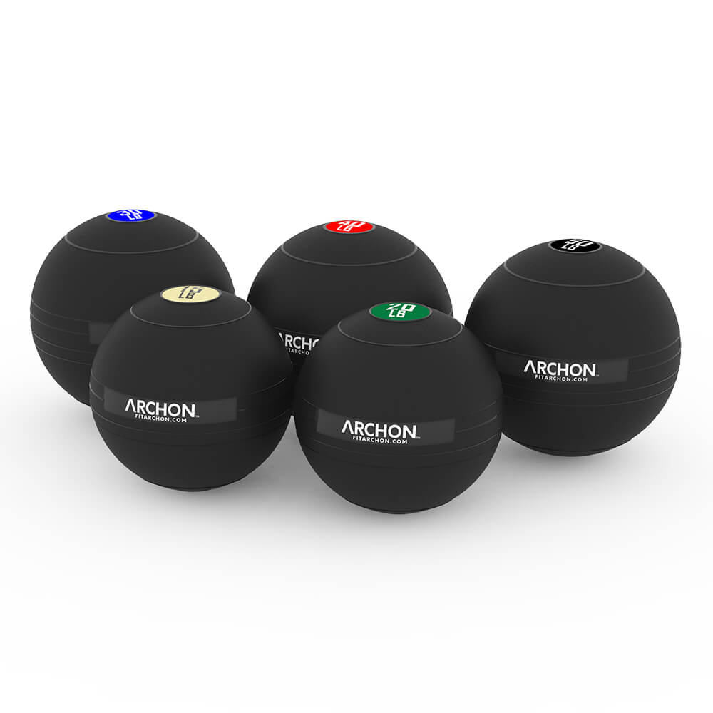 15/20/30/40/50 LB Slam Ball Set - Archon Fitness - high quality equipment