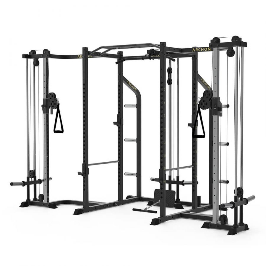 Power Cage with Cable Crossover - Lat Pull/Low Row - Archon Fitness - high quality equipment