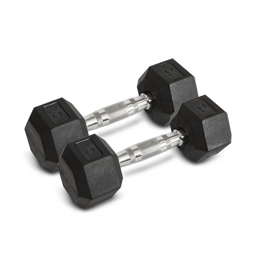 10LB Hex Dumbbells - Archon Fitness - exercise equipment store