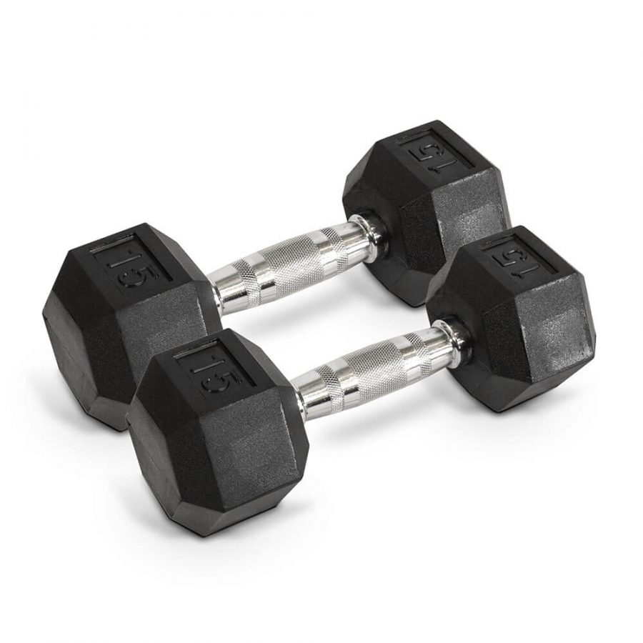 15LB Hex Dumbbells - Archon Fitness - exercise equipment store