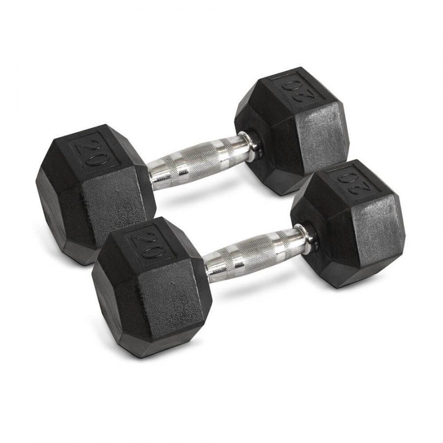 20LB Hex Dumbbells - Archon Fitness - exercise equipment store