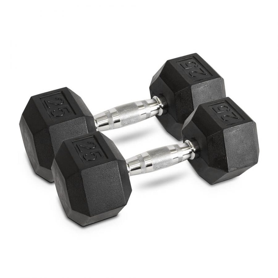 25LB Hex Dumbbells - Archon Fitness - exercise equipment store