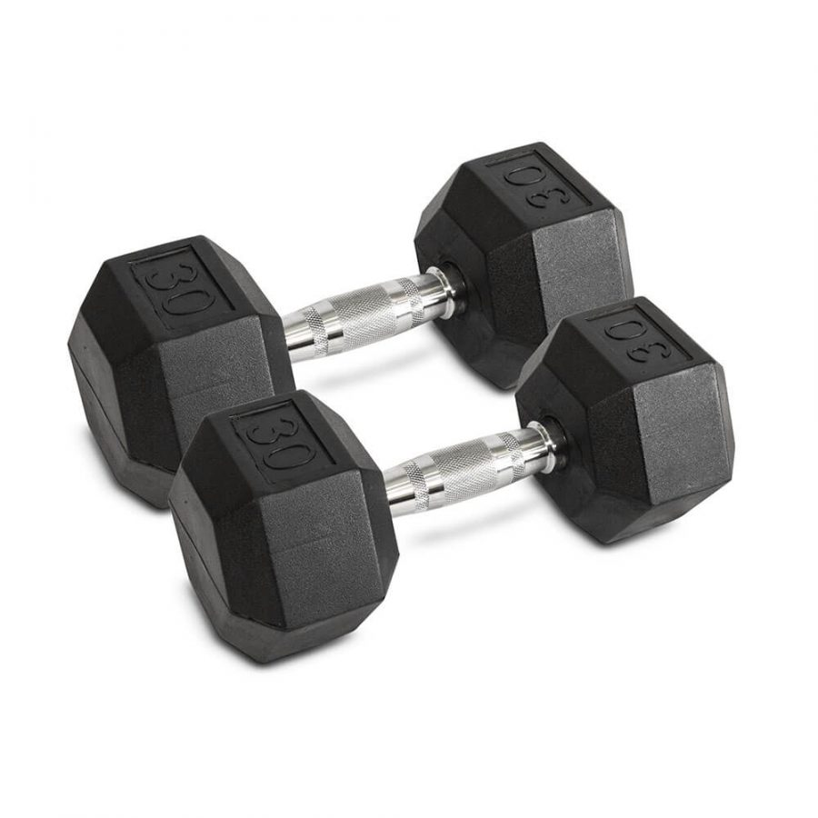 30LB Hex Dumbbells - Archon Fitness - exercise equipment store