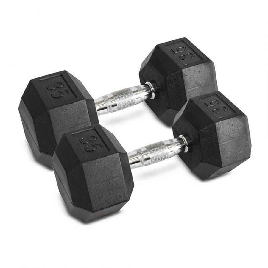 35LB Hex Dumbbells - Archon Fitness - exercise equipment store