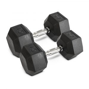 40LB Hex Dumbbells - Archon Fitness - exercise equipment store