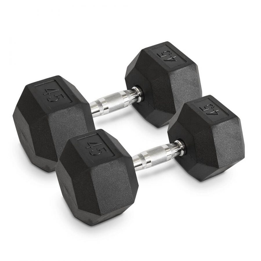 45LB Hex Dumbbells - Archon Fitness - exercise equipment store