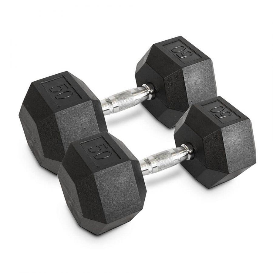 50LB Hex Dumbbells - Archon Fitness - exercise equipment store